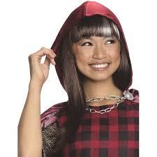 Halloween Costume Cerise Hood Wig Halloween Costume Accessory