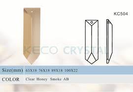 sharp glass prism of crystal chandelier parts kc504