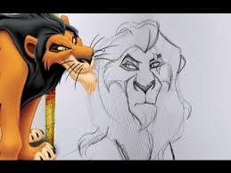 draw scar disney u0027s lion king dramaticparrot