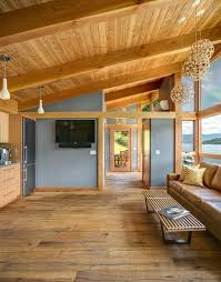 Asian Benches Car Siding On Ceiling Living Room Rustic With Sloped Ceiling Asian