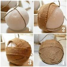 rustic burlap ornaments tree ornaments burlap balls