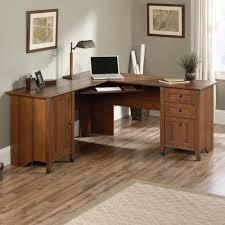 sauder 420606 palladia l desk vo a2 computer vintage oak inspiration use oak sewing desk against wall with window shelf