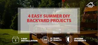 Easy Backyard Projects 4 Easy Summer Diy Backyard Projects