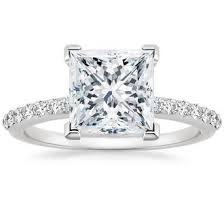 white gold princess cut engagement ring princess cut engagement rings brilliant earth