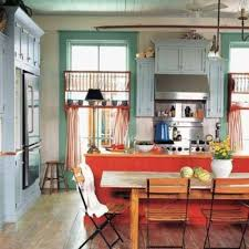 Bright Colorful Kitchen Curtains Inspiration This Eclectic Kitchen With A Vintage Vibe Gets Its Color From