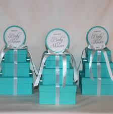 baby shower centerpieces tiffany co inspired box tiffany blue