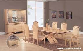 modern light wood ashley dining room set courtagerivegauche com