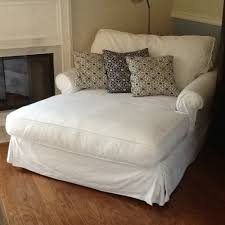 slipcover for oversized chair potterybarn sofa u chaise chair slipcover white cotton