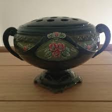Frog Flower Vase Eichwald Art Nouveau Majolica Rare Flower Vase With Frog Lid Rare