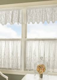 White Lace Valance Curtains Lace Valances Pine Hill Collections
