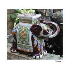 elephant end tables ceramic porcelain garden stool ceramic elephant plant stand patio accent