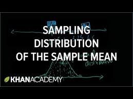 sampling distribution of the sample mean video khan academy