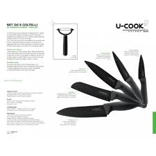 u cook katana series black ceramic knives set 1 katana knives set