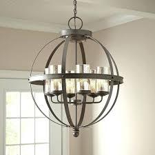 kitchen island chandelier modern 6 light globe chandelier orb
