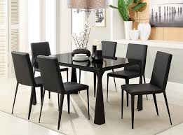 glass top dining table set 6 chairs dining table for 6 visionexchange co
