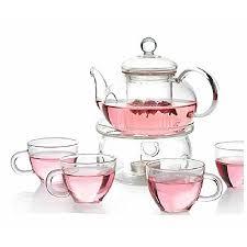 tea set personal clear heat resistant borosilicate glass teapot tea set