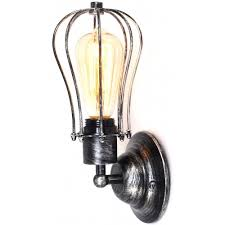 Edison Bulb Wall Sconce Industrial Edison Antique Glass 2 Light Wall Sconce Highlight
