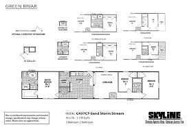 skyline manufactured homes floor plans green briar c437ct sand storm stream by skyline homes