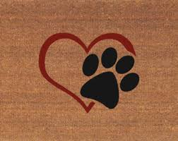 Cats Paw Rug Paw Print Door Mat Etsy