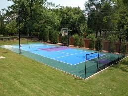 backyard sports court prices ideas home design