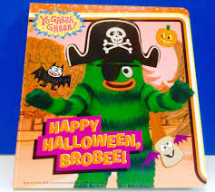 halloween sticker books yo gabba gabba happy halloween brobee read a long book youtube