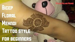 tattoo for biceps floral mehndi design for biceps for beginners tattoo style