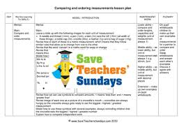 comparing measurement ks2 worksheets lesson plans powerpoint and