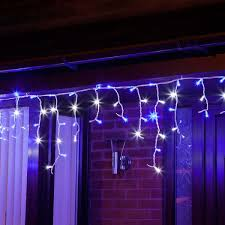 white led icicle lights outdoor led icicle lights connectable white rubber cable