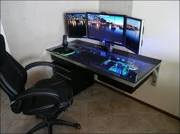Pc Desk Setup Uncategorized Gaming Pc Desk Setup Pc Best Intended For Desks