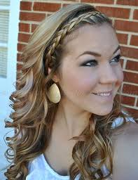 braided headband braided hairstyles wavy hairstyle with braided headband trendy