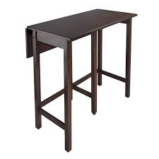 high top kitchen table with leaf winsome lynnwood drop leaf counter height pub table hayneedle
