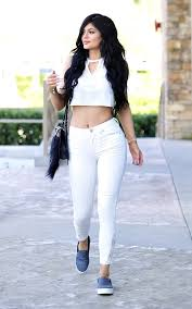 all white casual casual coffee run jenner turns heads in all white