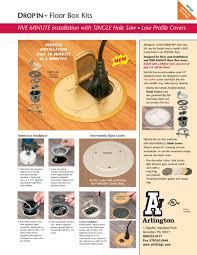 Floor Box by Arlington Drop In Floor Box Kits