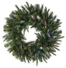 30 pine wreath battery operated timer contemporary