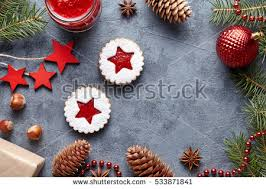 linzer star cookies jam filling traditional stock photo 533871916