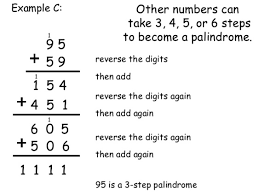 pattern with palindromic numbers palindrome thinking mathematically