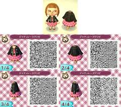 animal crossing new leaf qr code hairstyle gadgets page animal crossing qr codes black leather jacket and
