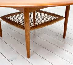 Rattan And Glass Coffee Table by Coffee Table Teak Rattan Coffee Table By Johannes Andersen For Cfc