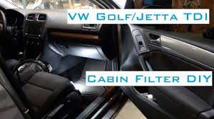 vw golf jetta tdi cabin filter diy 2009 2014 youtube