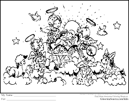 precious moments christmas coloring pages ginormasource kids