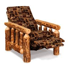Log Cabin Furniture Rustic Log Cabin Recliner