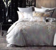Gold Quilted Bedspread Linen House Pondichery Cream Gold Silver King Quilt Doona Duvet