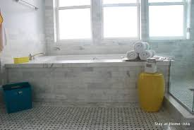 marble bathroom tile the block triple threat ensuite reveal