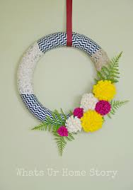 How To Make A Spring Wreath by Make A Cool Wreath From Fabric Scraps