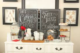 kitchen coffee bar ideas simple and small coffee station table with drawer painted with