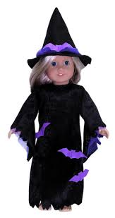 Girls Witch Halloween Costume American Witches Costume Rosies Doll Clothes Patterns