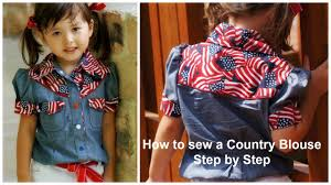 how to sew a blouse western style step by step sewing