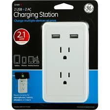 ge 2 usb 2 ac charging station rapid charge walmart com