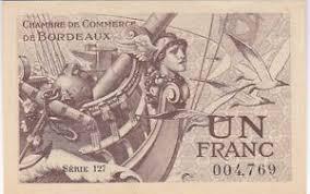 chambre commerce bordeaux billet necessite 1 franc chambre commerce de bordeaux 1921 q neuf