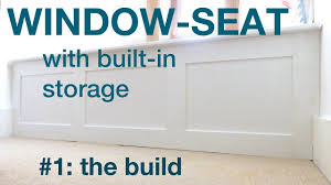 how to make a window seat with storage youtube